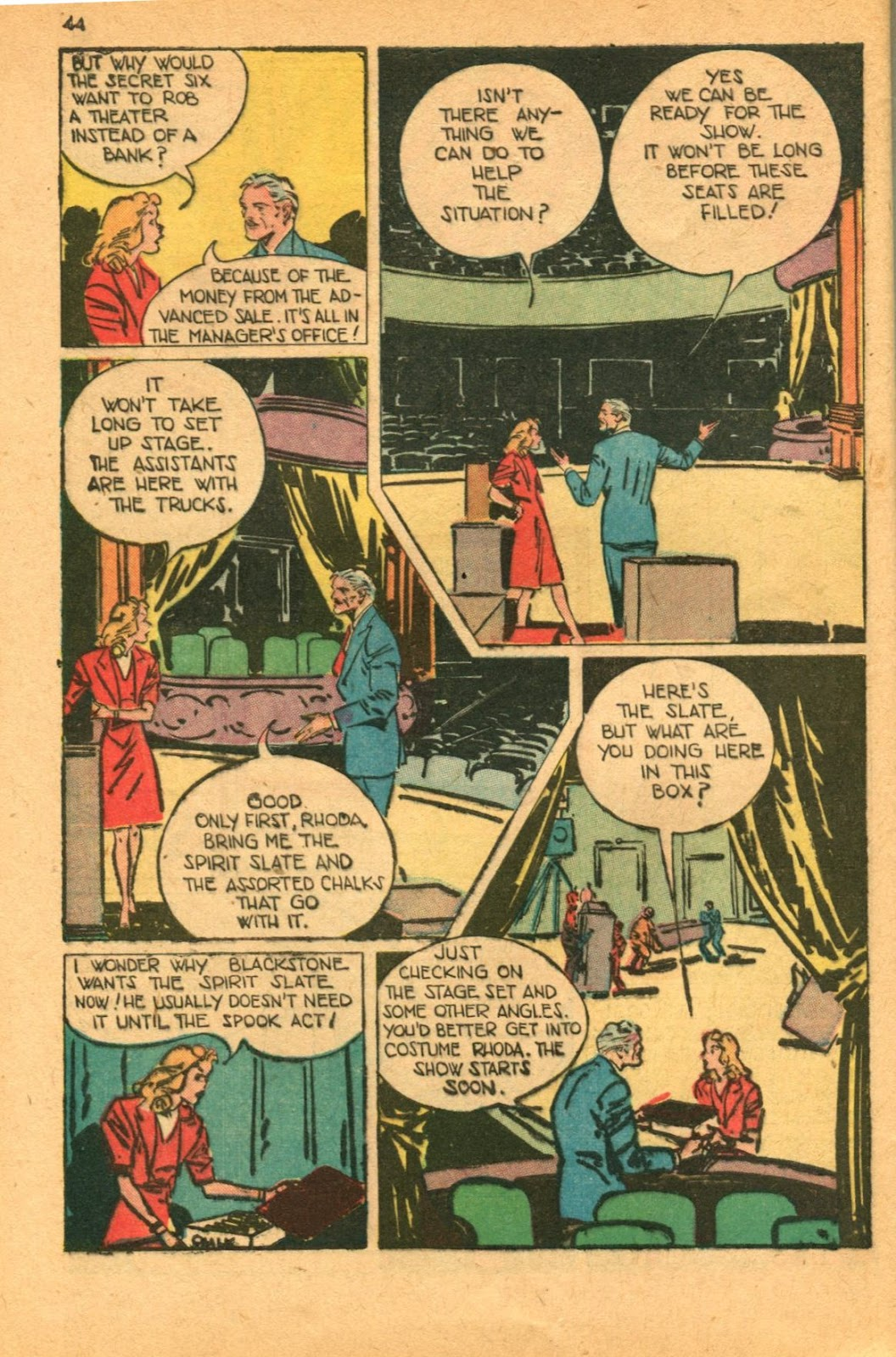 Read online Super-Magician Comics comic -  Issue #46 - 44