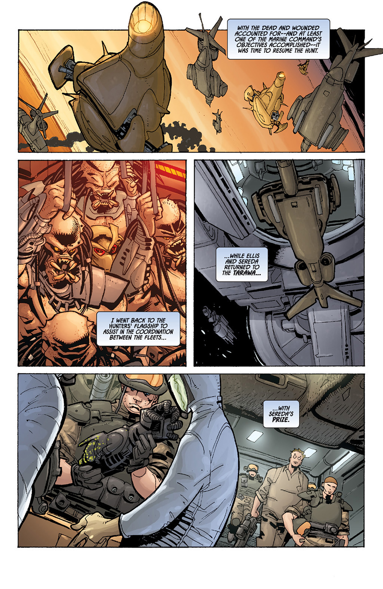 Read online Aliens vs. Predator: Three World War comic -  Issue #5 - 9