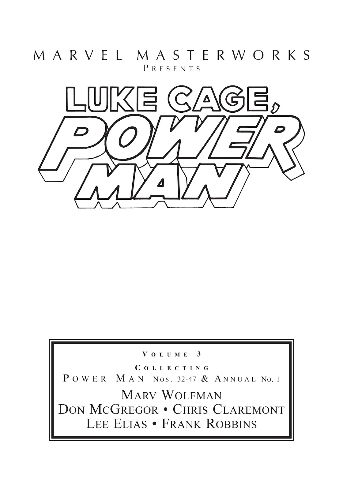 Read online Marvel Masterworks: Luke Cage, Power Man comic -  Issue # TPB 3 (Part 1) - 2