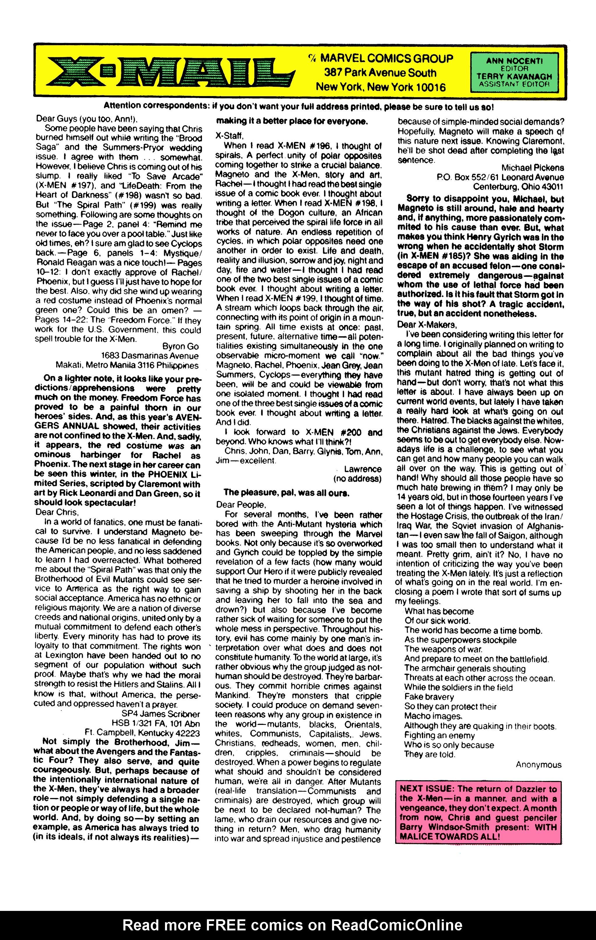 Read online Uncanny X-Men (1963) comic -  Issue #213 - 25