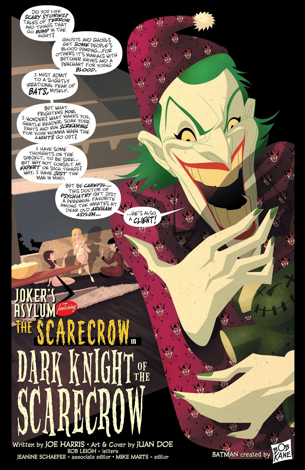 Joker's Asylum: Scarecrow issue Full - Page 2