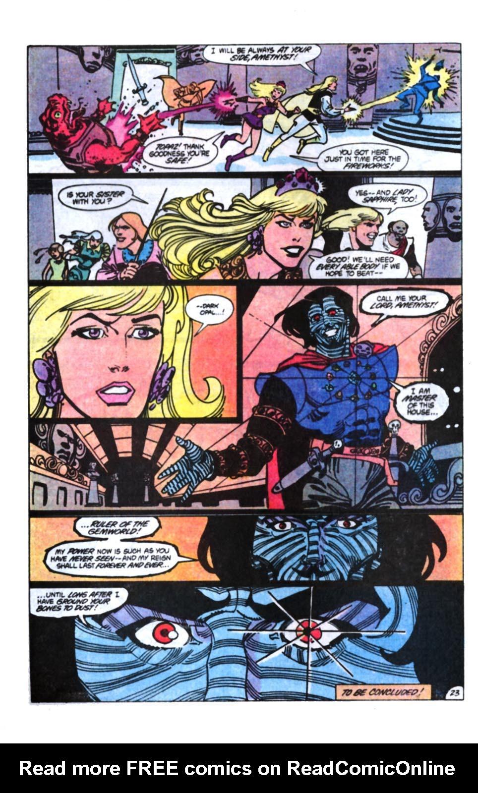 Read online Amethyst, Princess of Gemworld comic -  Issue #11 - 25