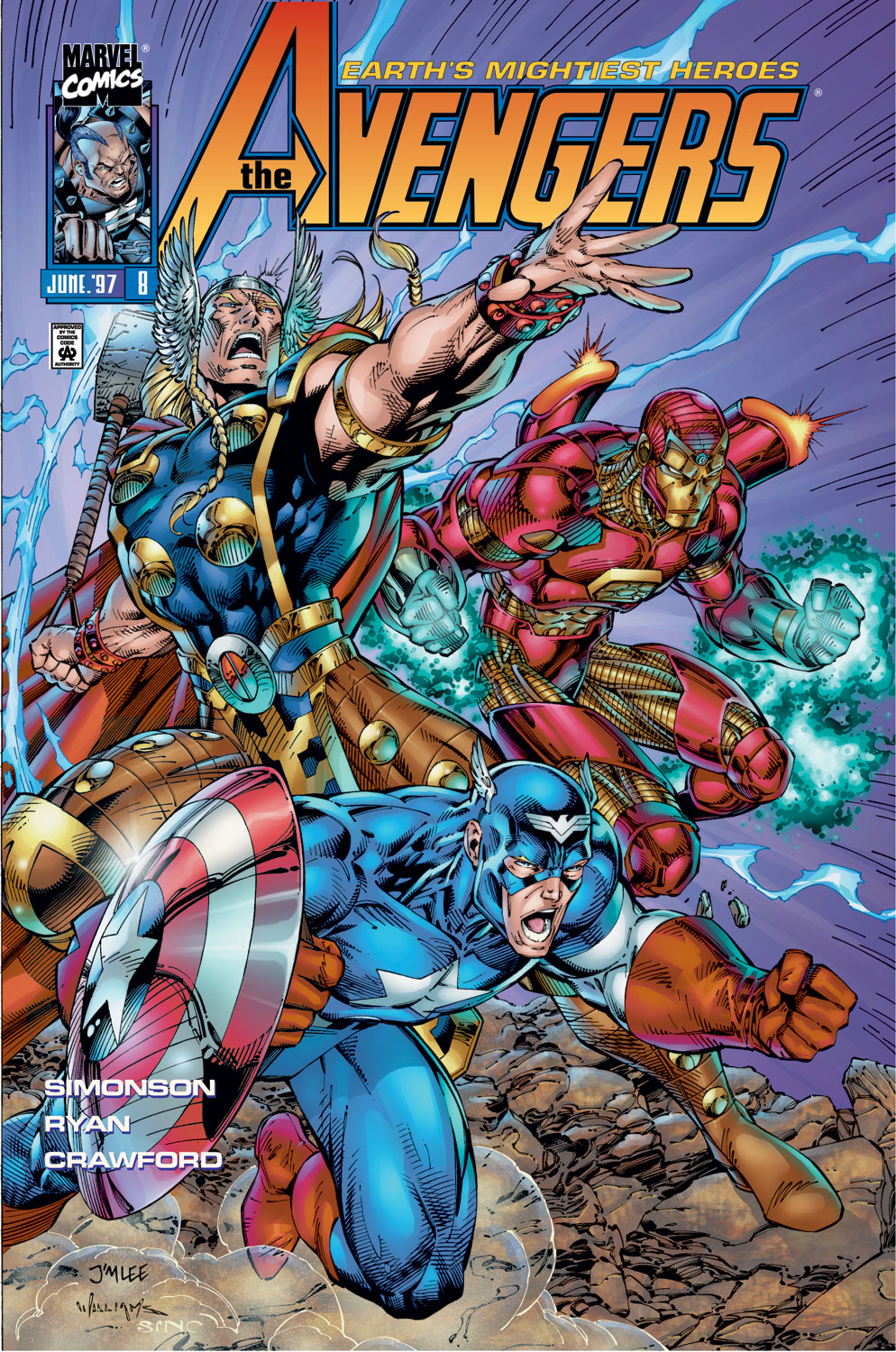 Read online Avengers (1996) comic -  Issue #8 - 1