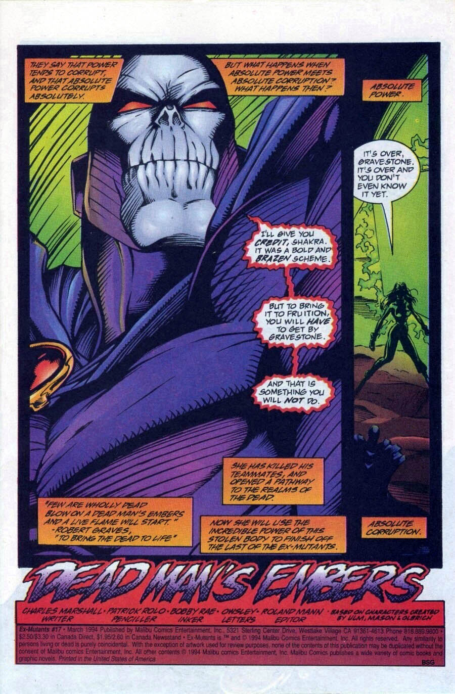 Read online Ex-Mutants comic -  Issue #17 - 2