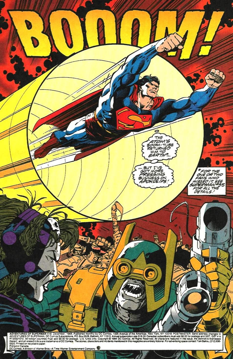 Read online Adventures of Superman (1987) comic -  Issue #518 - 2