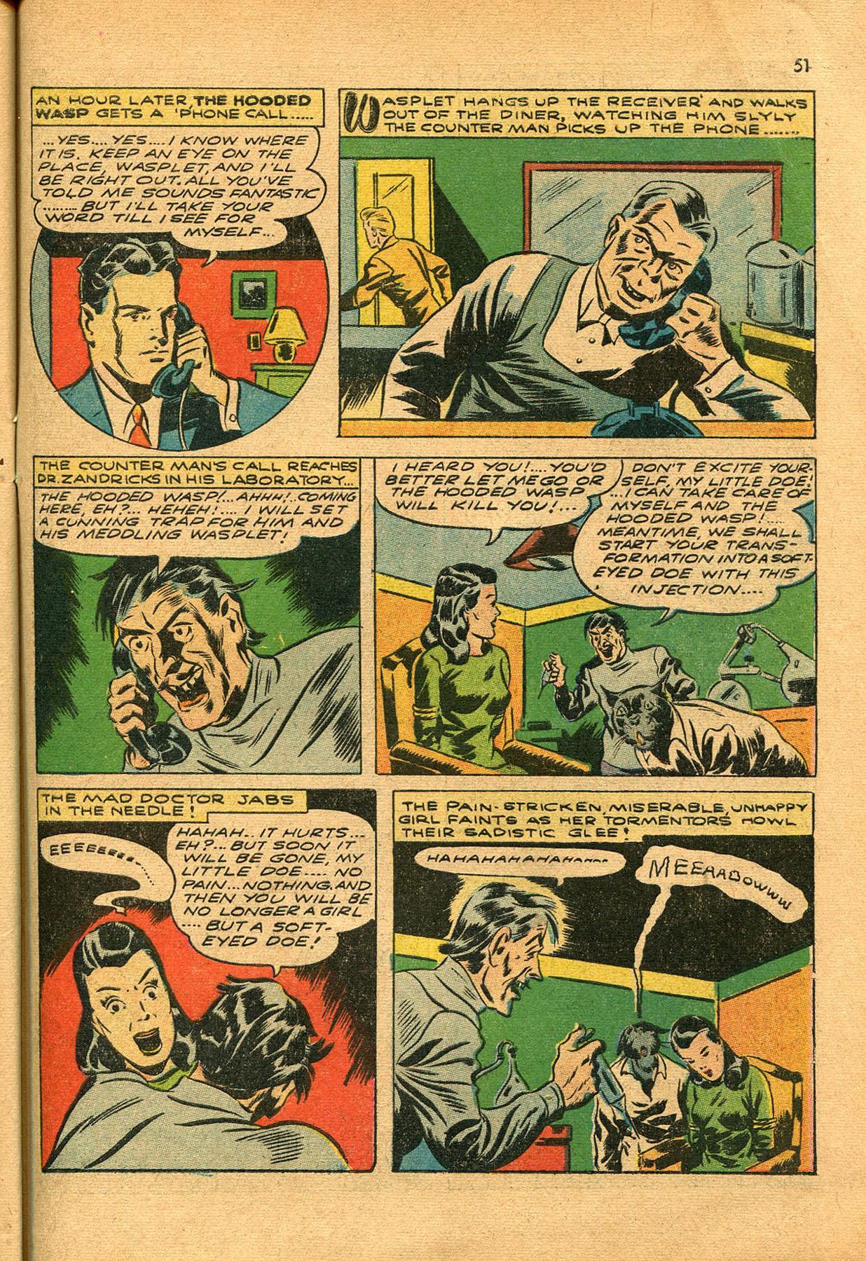 Read online Shadow Comics comic -  Issue #23 - 51