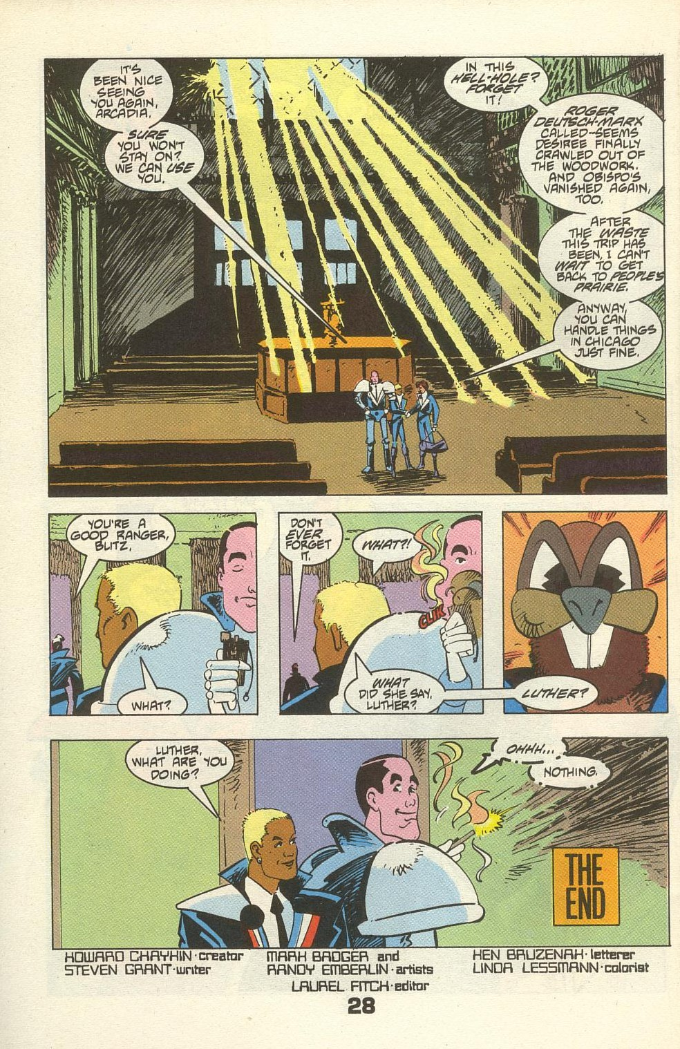 Read online American Flagg! comic -  Issue #34 - 34