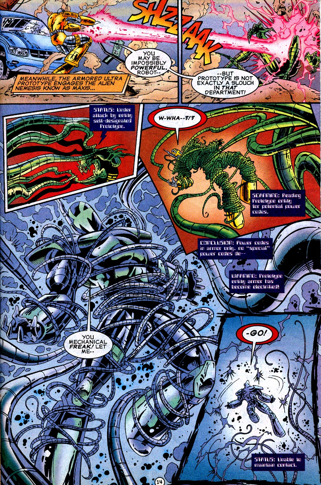 Read online UltraForce (1995) comic -  Issue #12 - 16