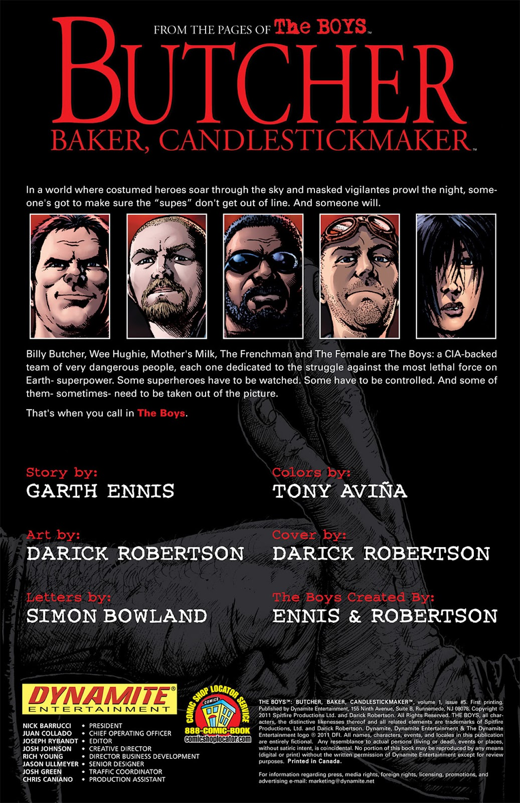 Read online The Boys: Butcher, Baker, Candlestickmaker comic -  Issue #5 - 2