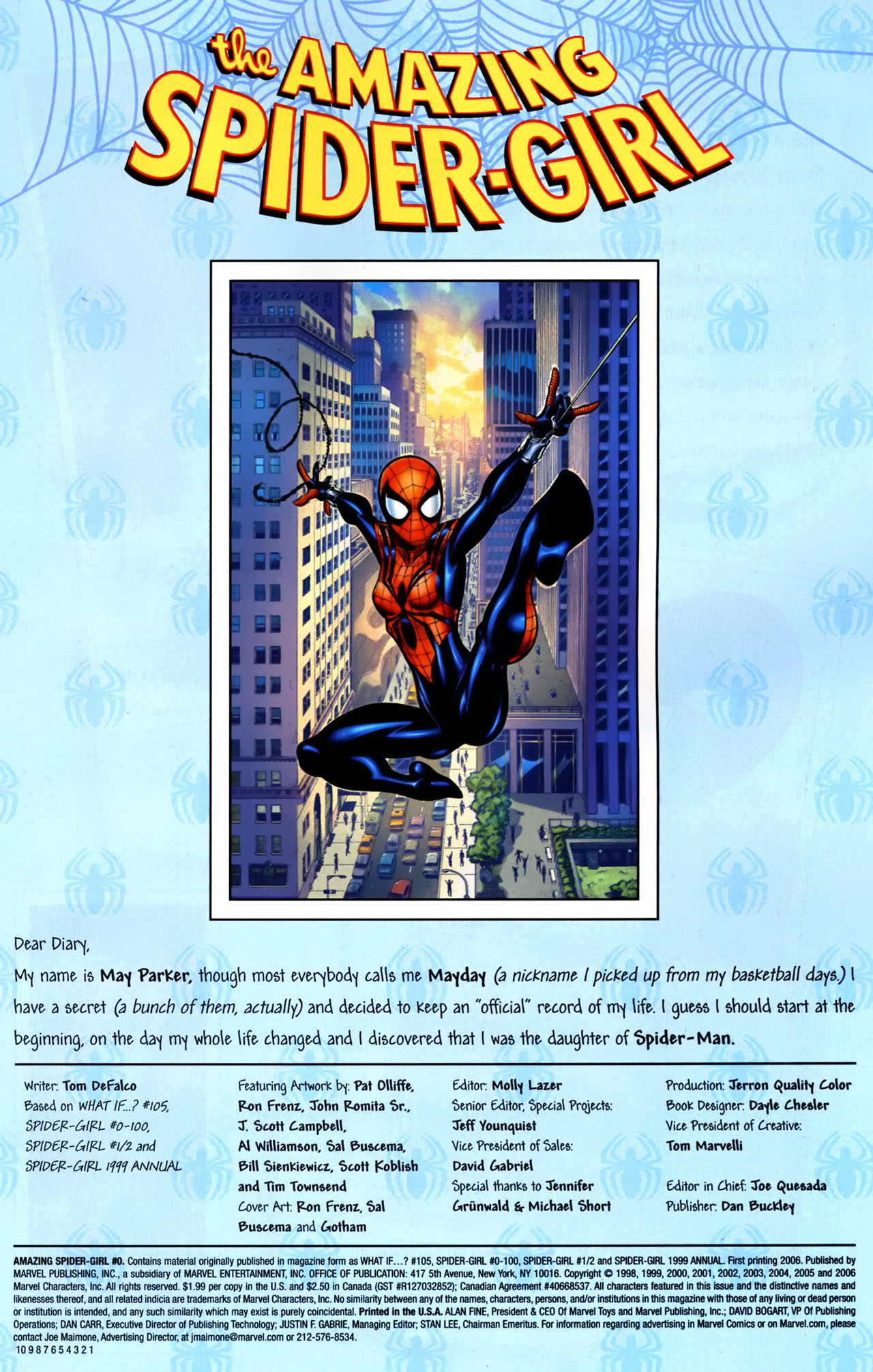 Read online Amazing Spider-Girl comic -  Issue #0 - 2