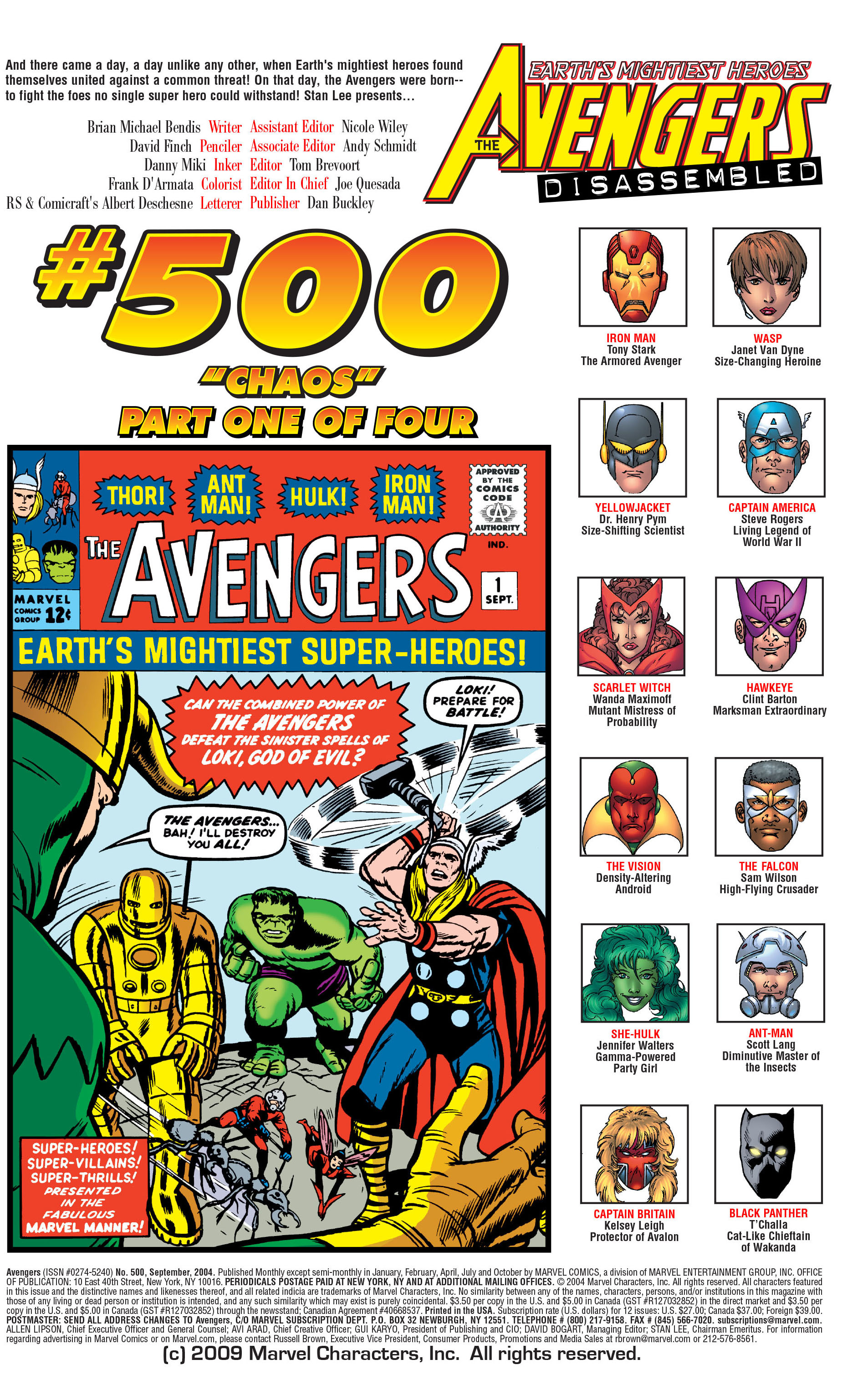 Read online Avengers (1998) comic -  Issue #500 - 2