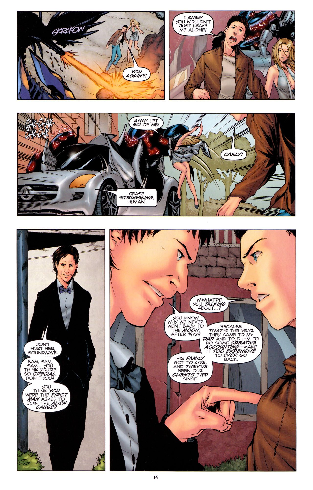 Read online Transformers: Dark of the Moon Movie Adaptation comic -  Issue #3 - 16