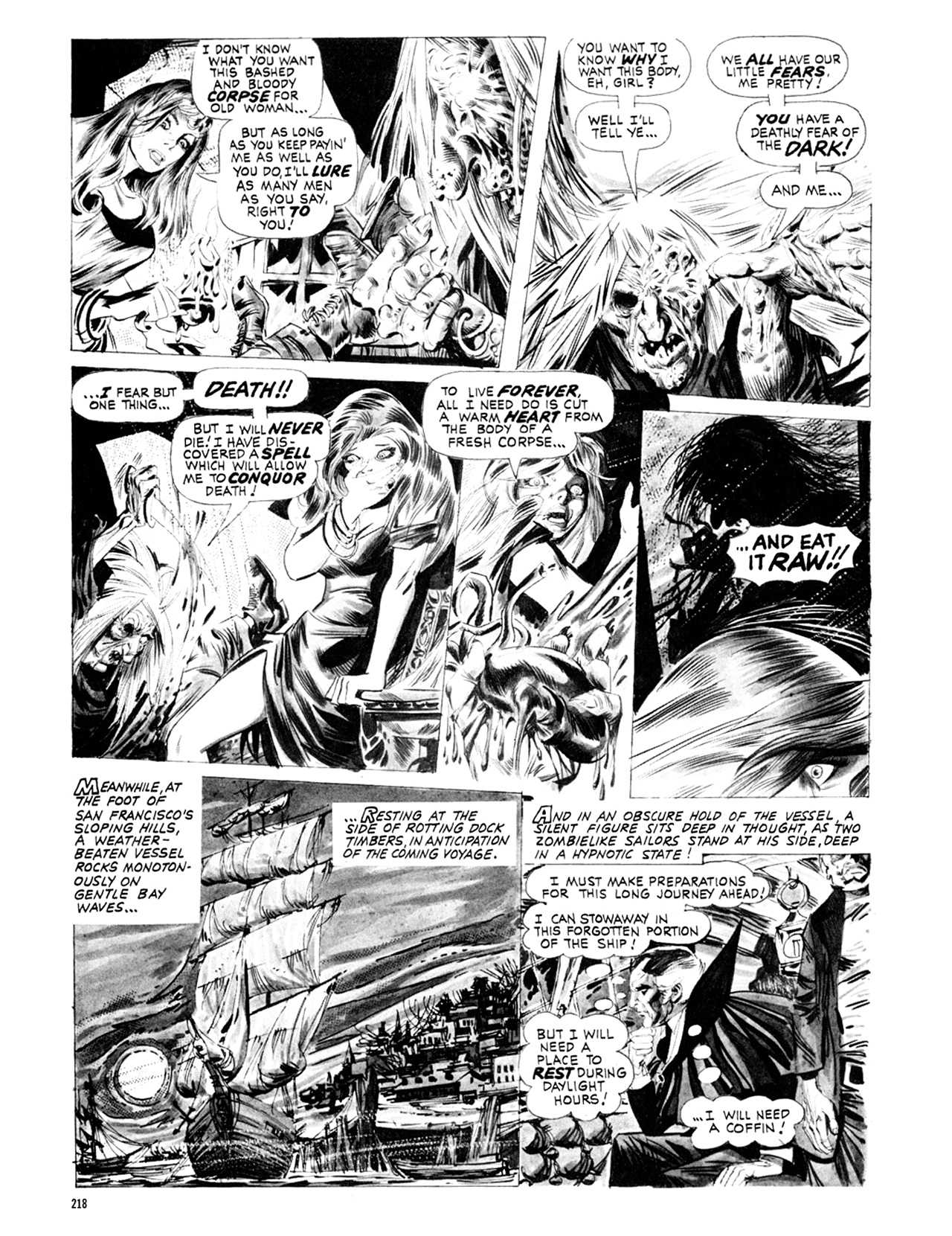 Read online Eerie Archives comic -  Issue # TPB 9 - 219