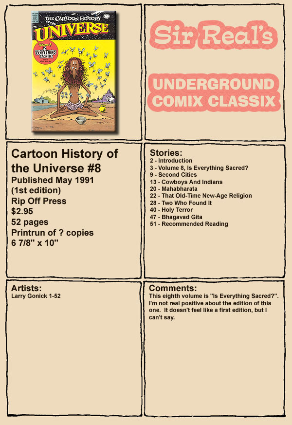 Read online The Cartoon History of the Universe comic -  Issue #8 - 1