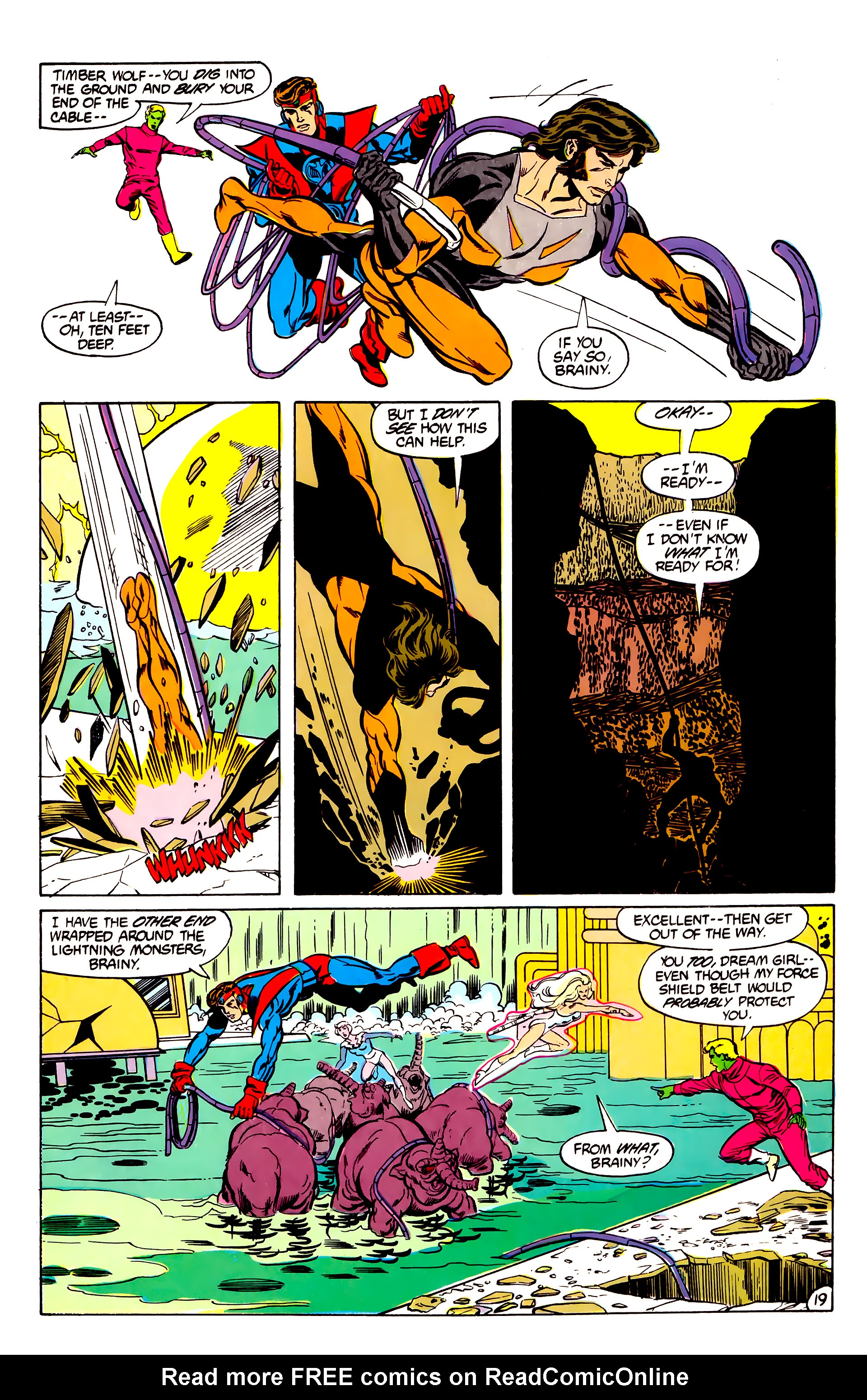 Legion of Super-Heroes (1984) 30 Page 19