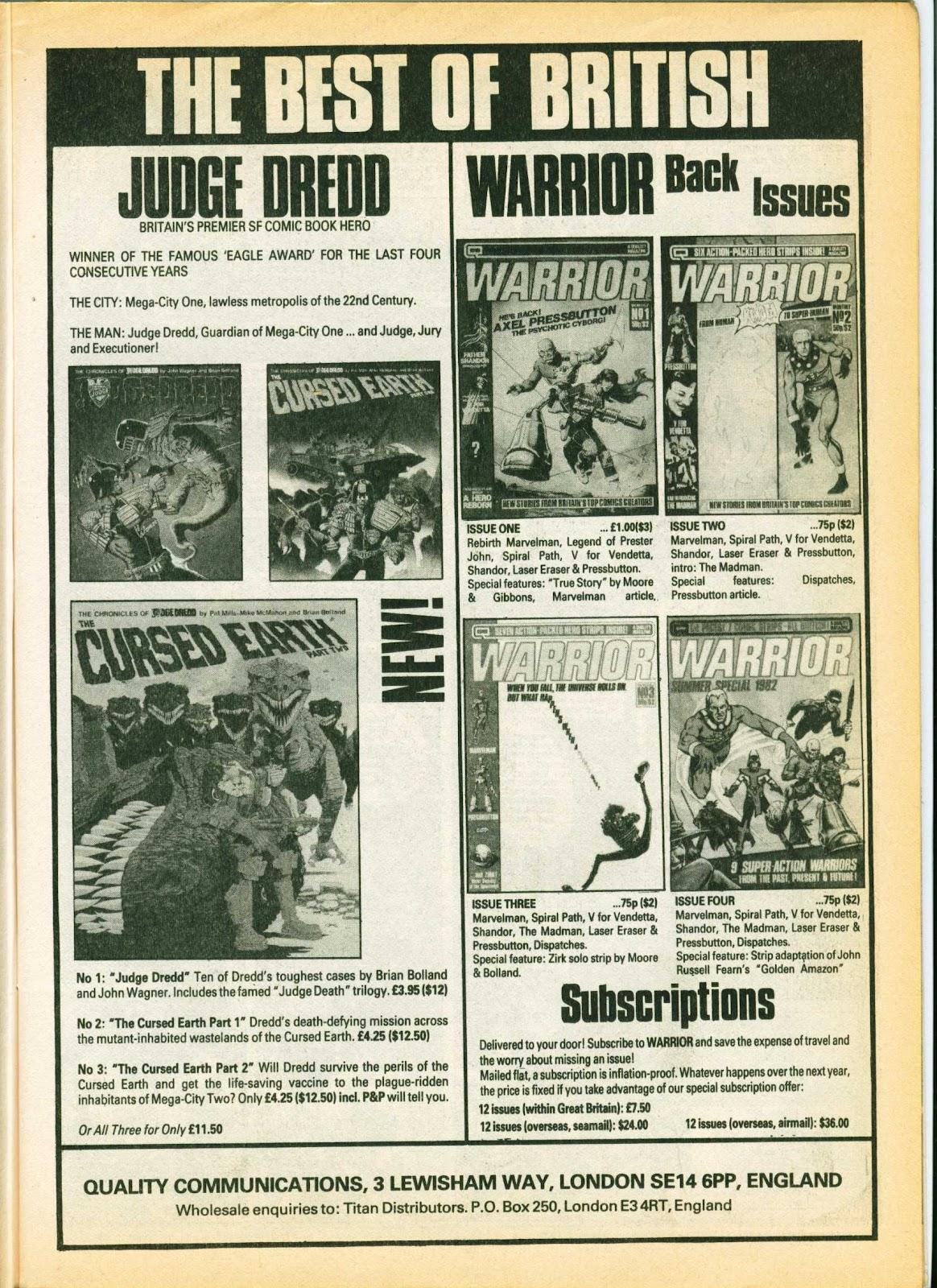Warrior Issue #6 #7 - English 11