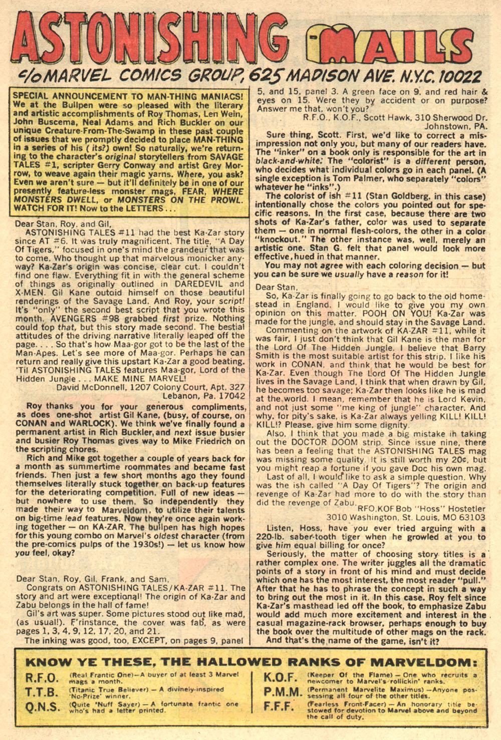 Read online Astonishing Tales (1970) comic -  Issue #13 - 17