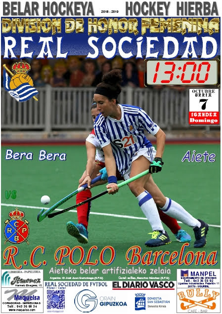 Cartel hockey 2018-10-07 Real Sociedad - R.C. POLO Barcelona