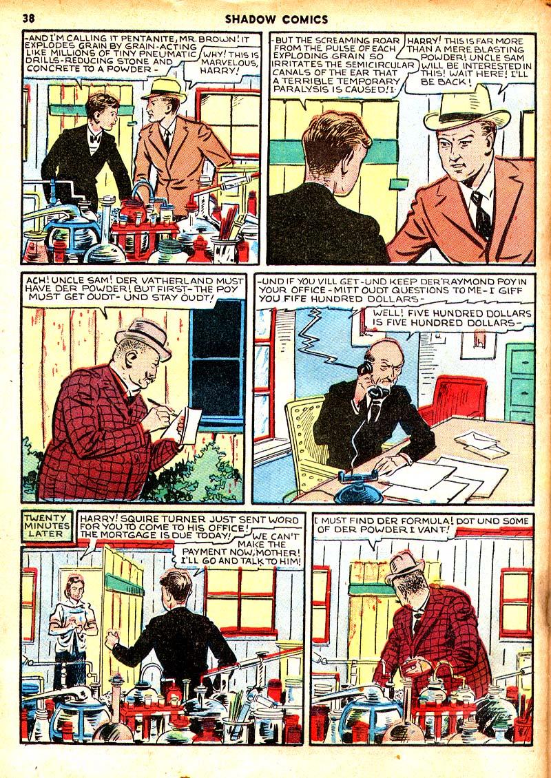 Read online Shadow Comics comic -  Issue #7 - 31