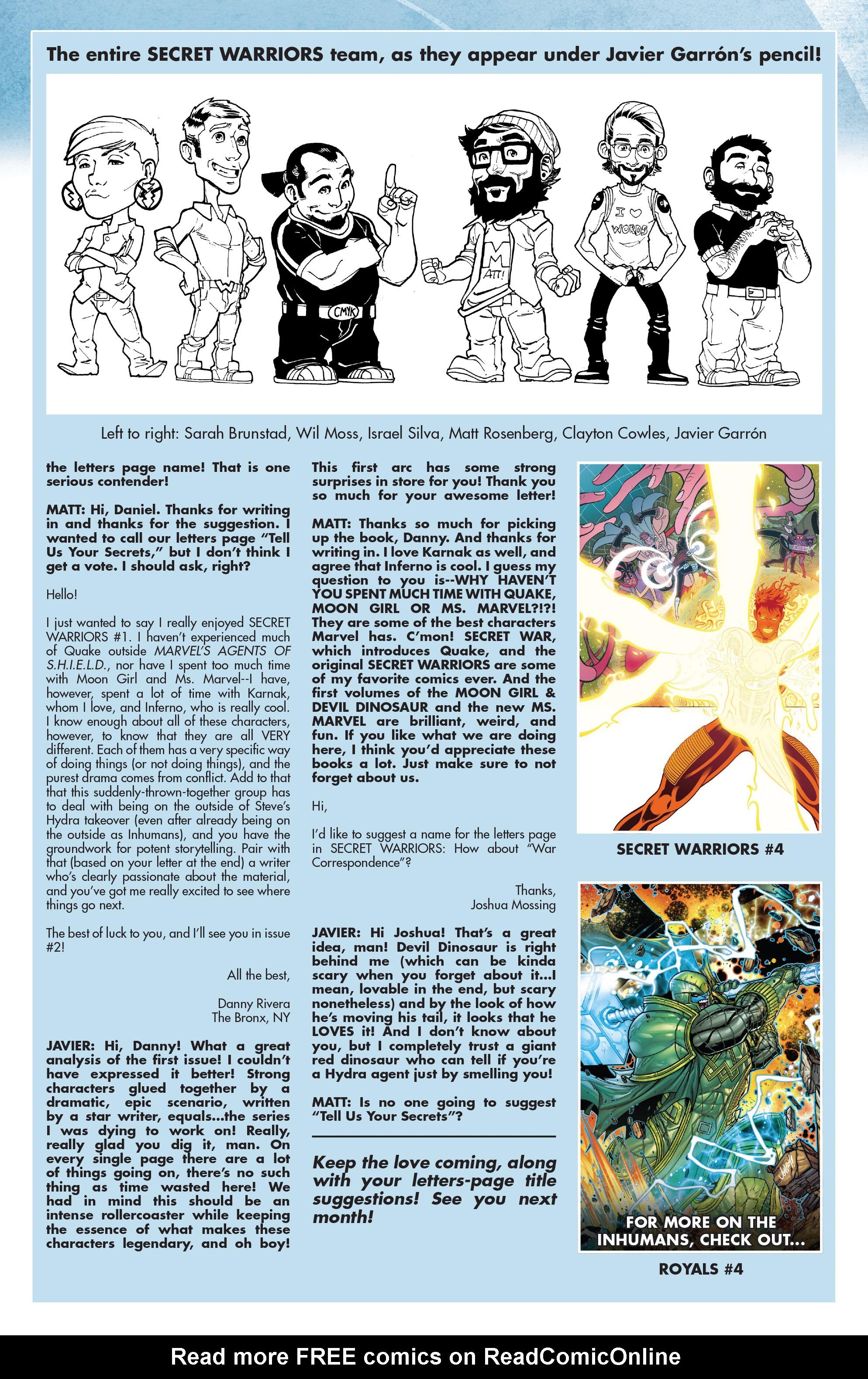 Read online Secret Warriors (2017) comic -  Issue #3 - 25
