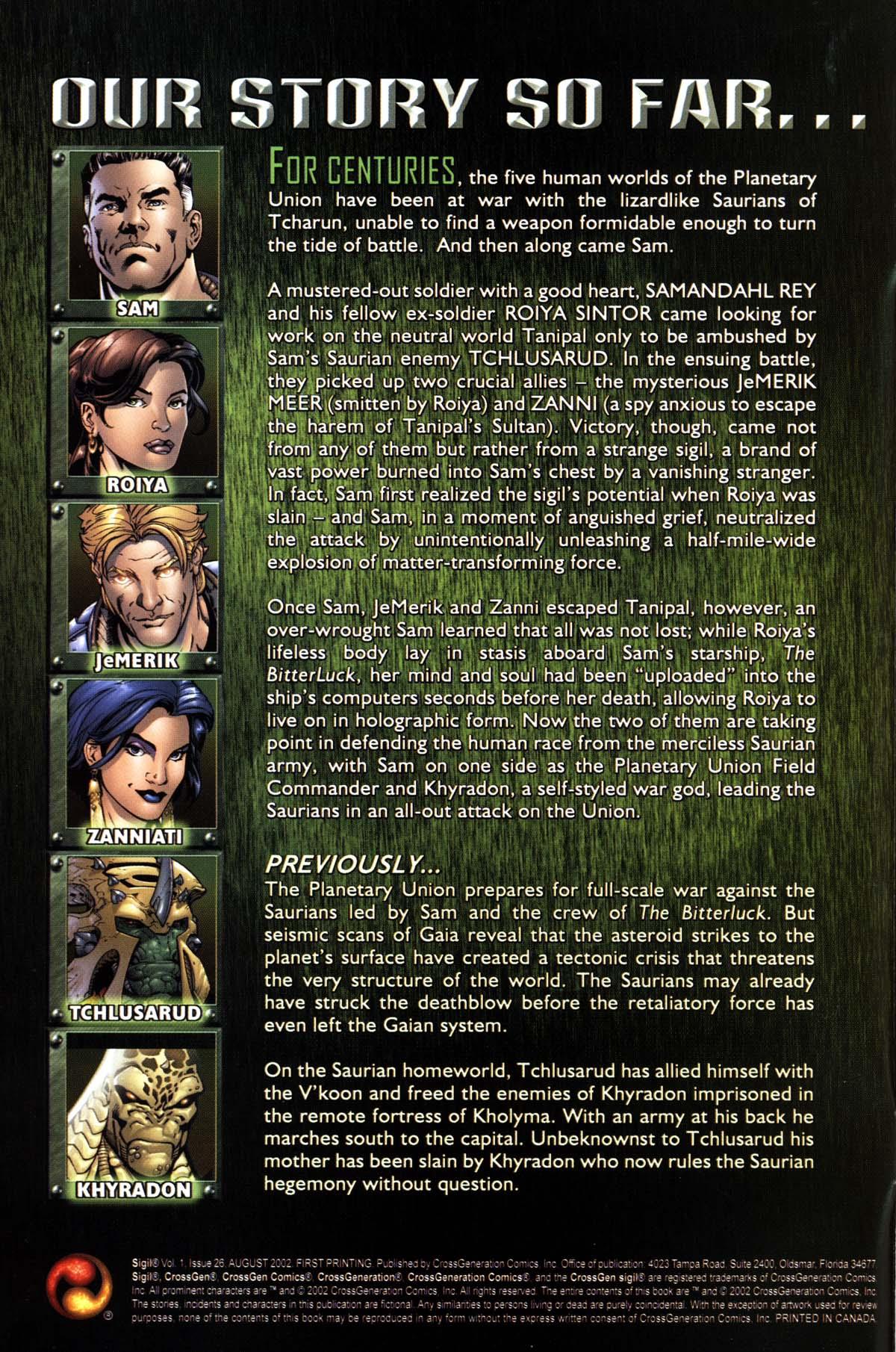 Read online Sigil (2000) comic -  Issue #26 - 2