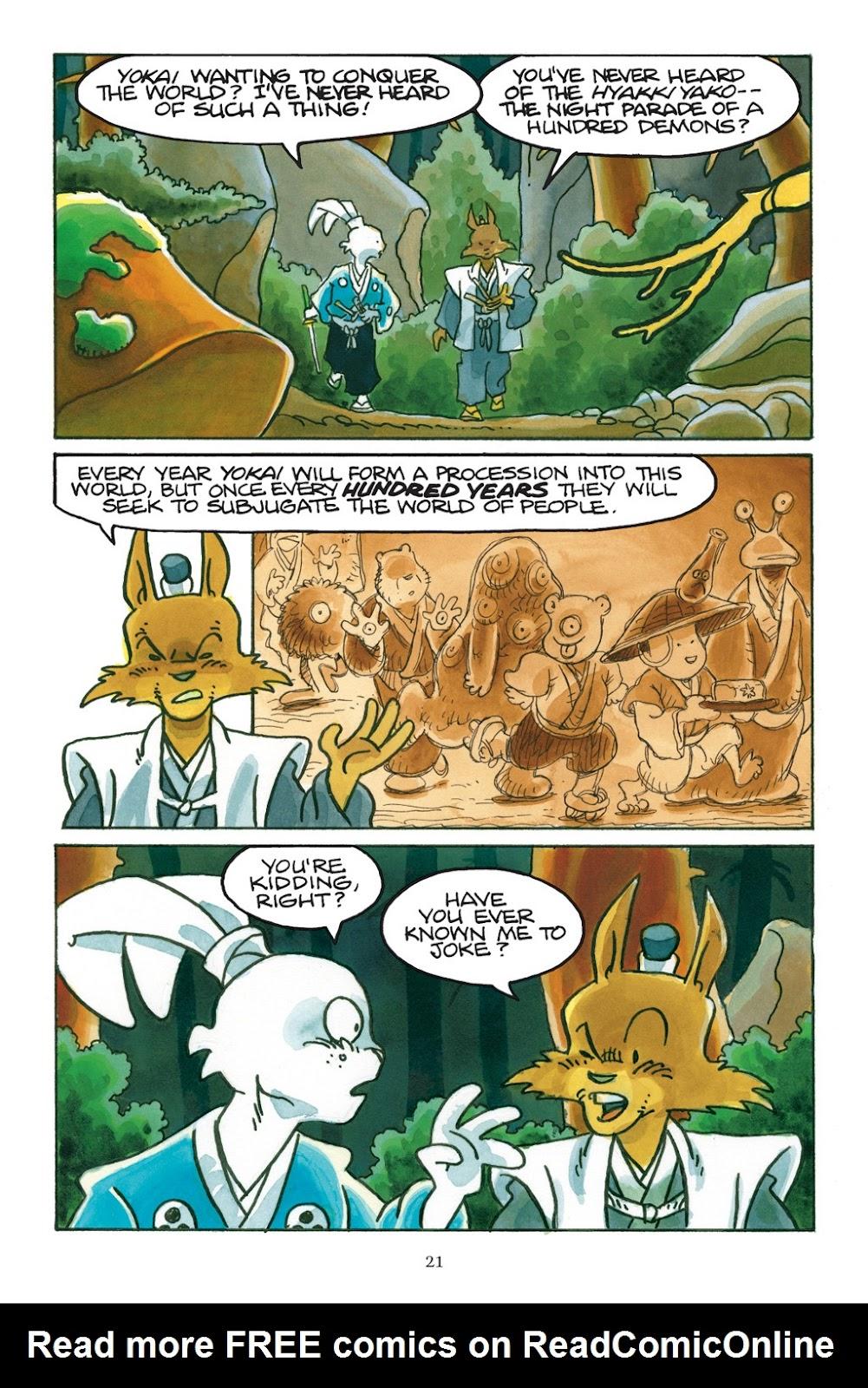 Read online Usagi Yojimbo: Yokai comic -  Issue # Full - 22