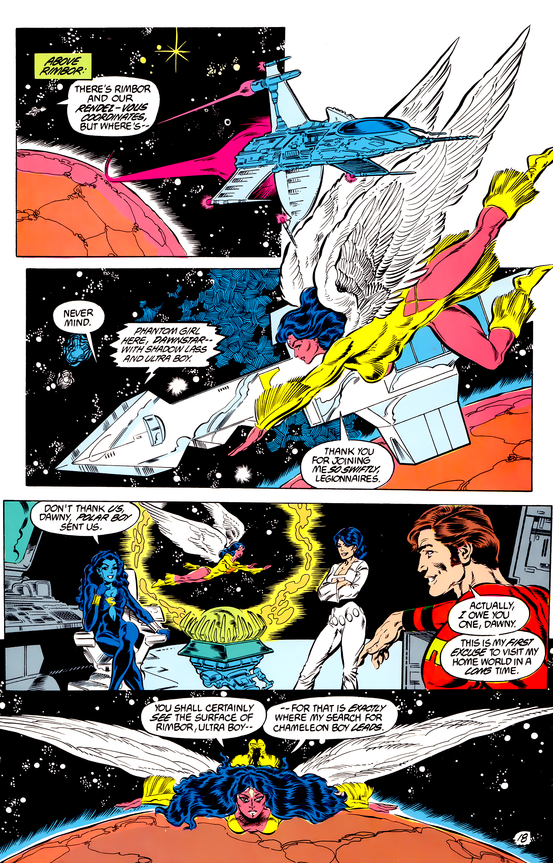Legion of Super-Heroes (1984) 46 Page 18