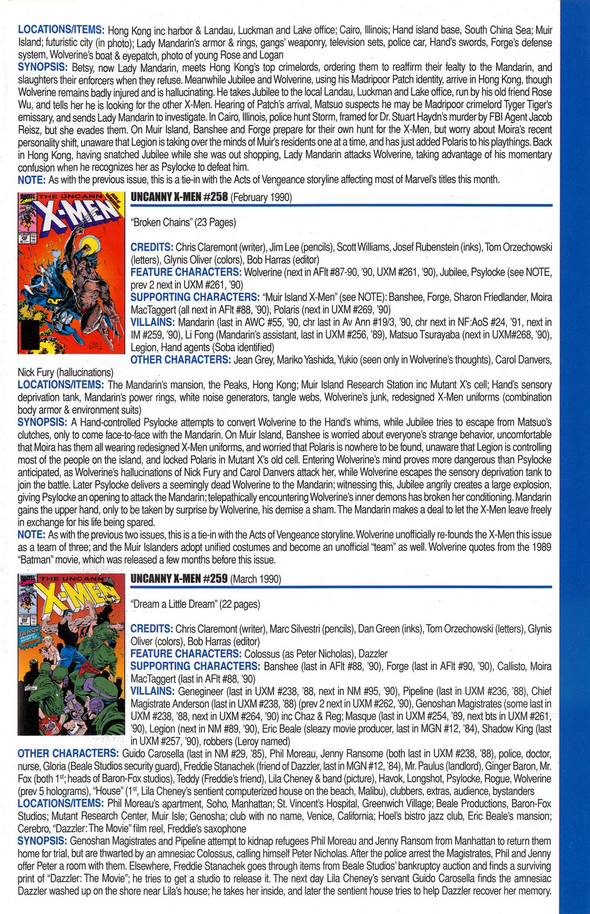 Read online Official Index to the Marvel Universe comic -  Issue #6 - 61