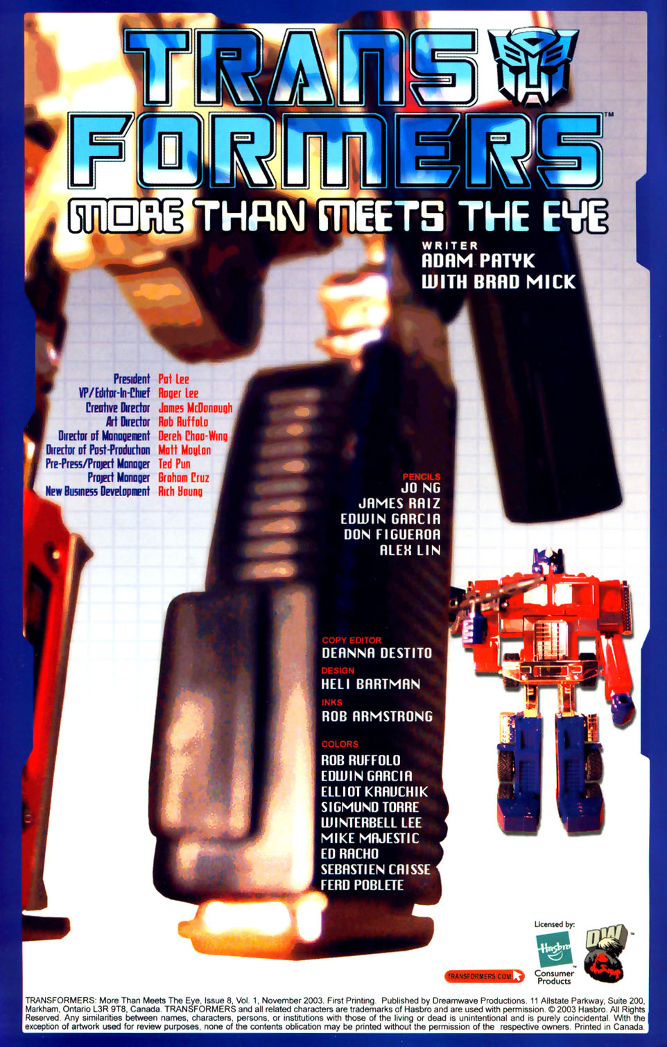 Read online Transformers: More than Meets the Eye comic -  Issue #8 - 2
