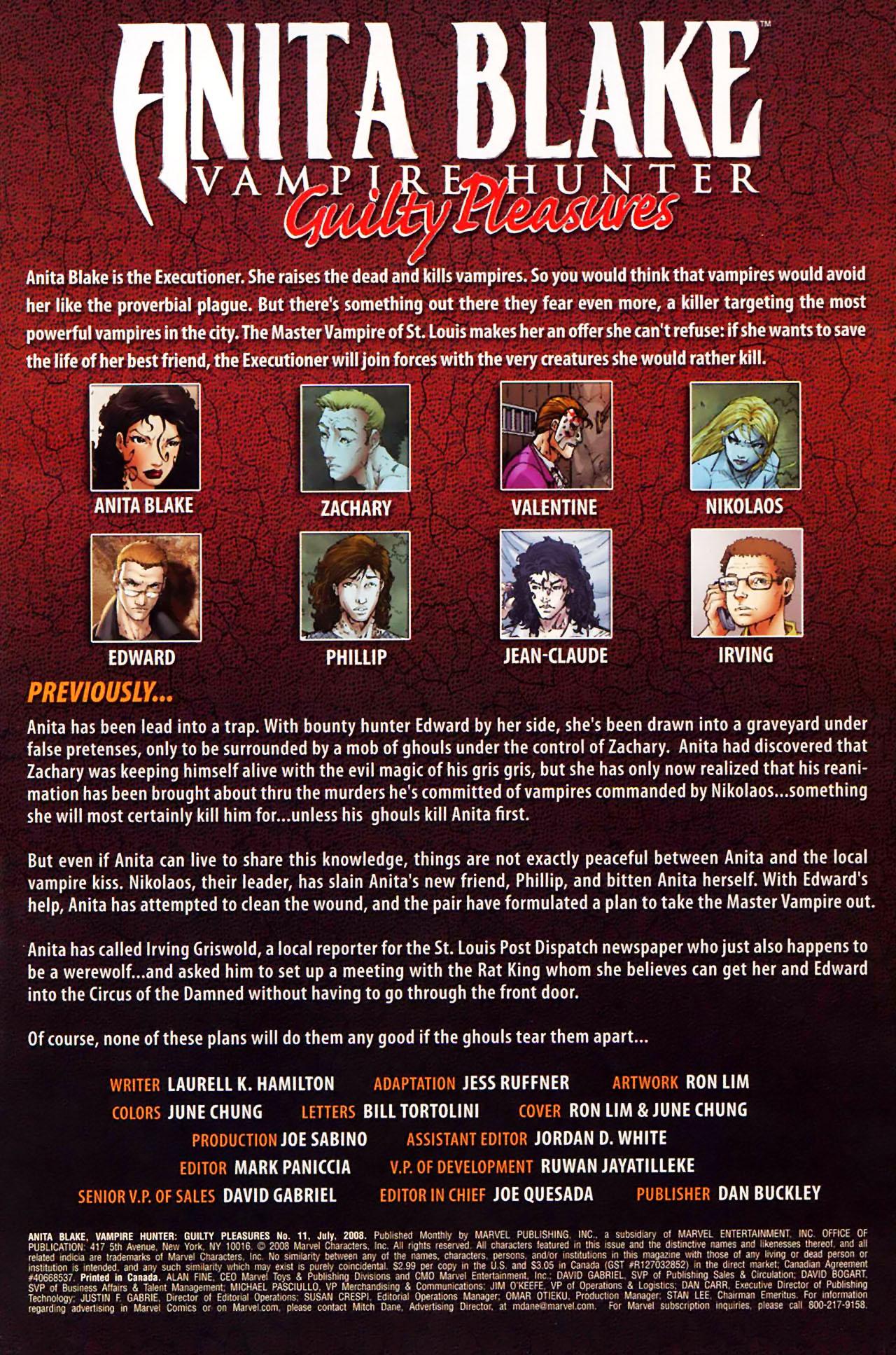 Read online Anita Blake, Vampire Hunter: Guilty Pleasures comic -  Issue #11 - 2