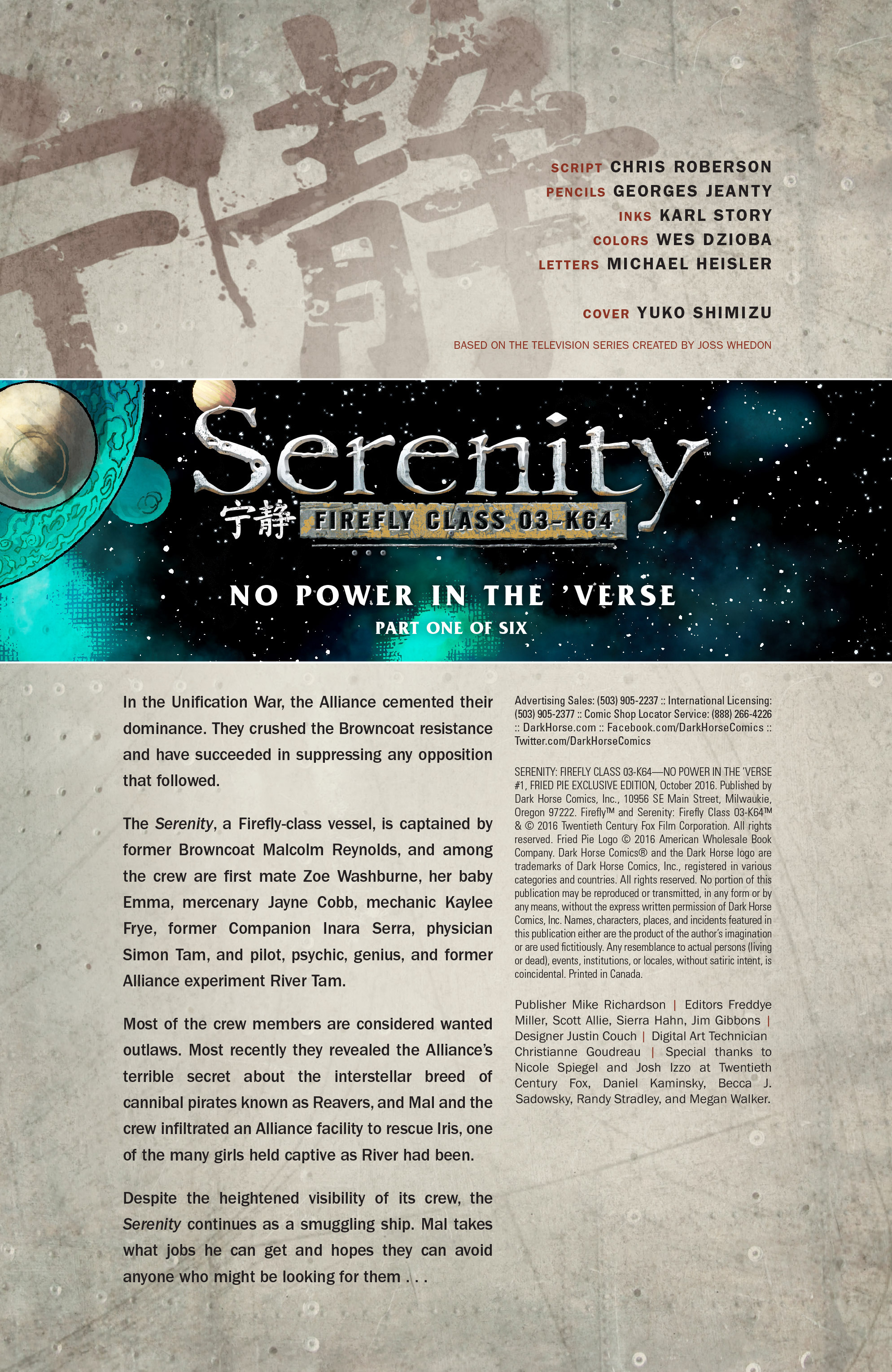 Read online Serenity: Firefly Class 03-K64 – No Power in the 'Verse comic -  Issue #1 - 10