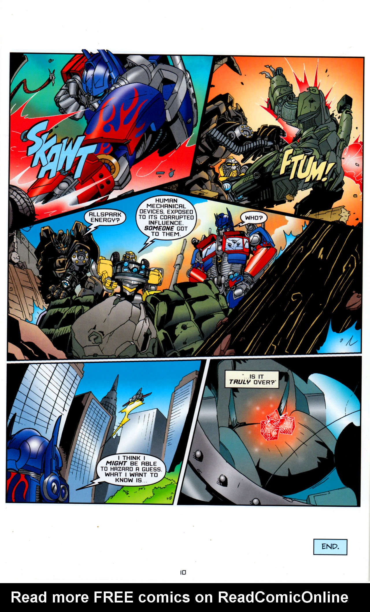 Read online Transformers: Saga of the Allspark comic -  Issue #4 - 13