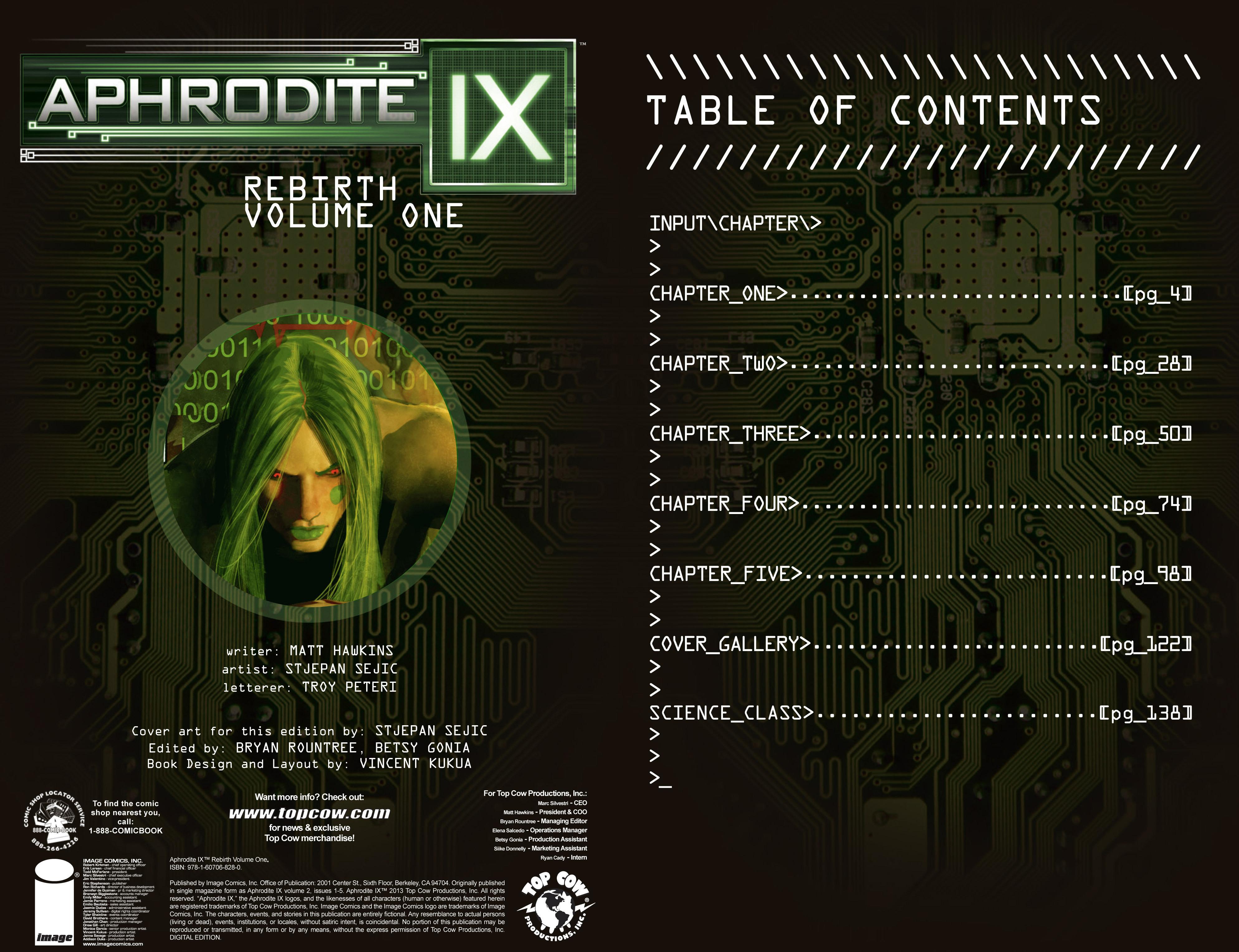 Read online Aphrodite IX (2013) comic -  Issue #Aphrodite IX (2013) _TPB 1 - 3