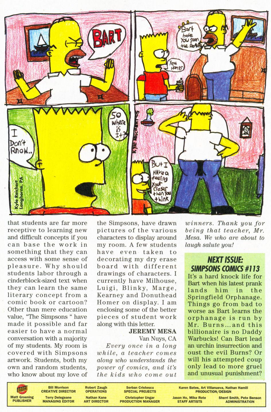 Read online Simpsons Comics comic -  Issue #112 - 30