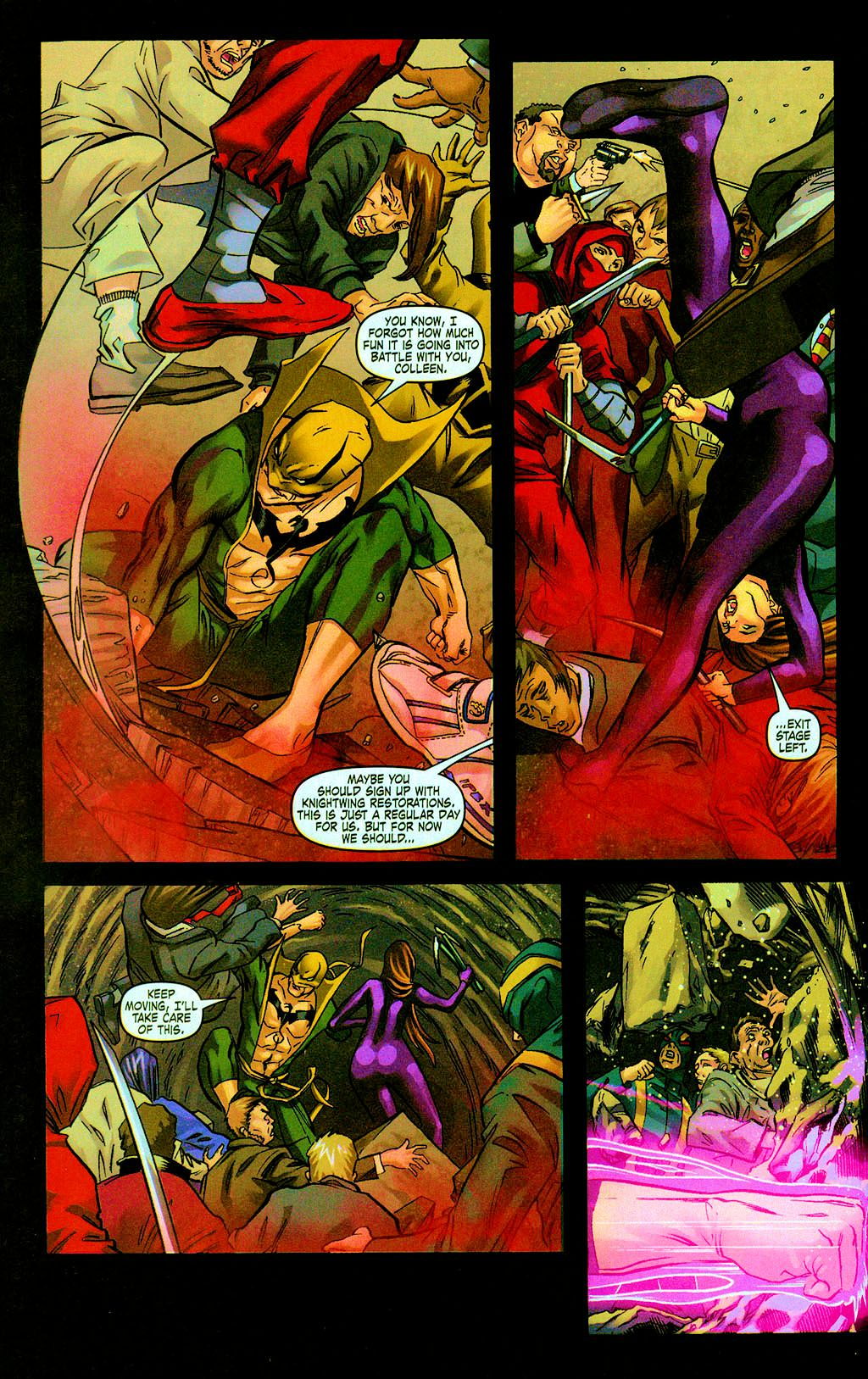 Read online Daughters of the Dragon comic -  Issue #6 - 6