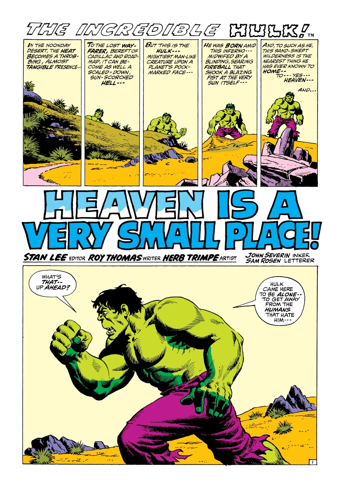 Read online Marvel Masterworks: The Incredible Hulk comic -  Issue # TPB 8 (Part 1) - 76