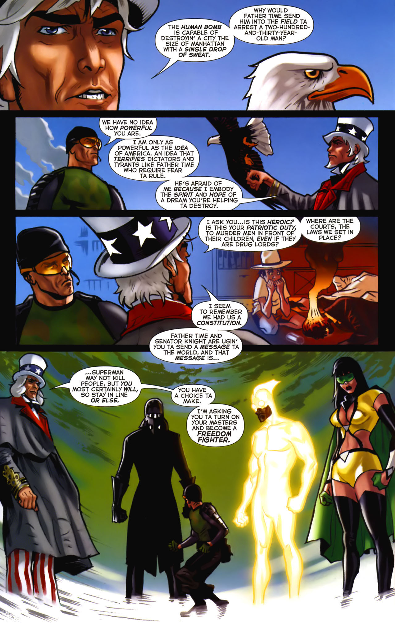 Read online Uncle Sam and the Freedom Fighters (2006) comic -  Issue #2 - 12