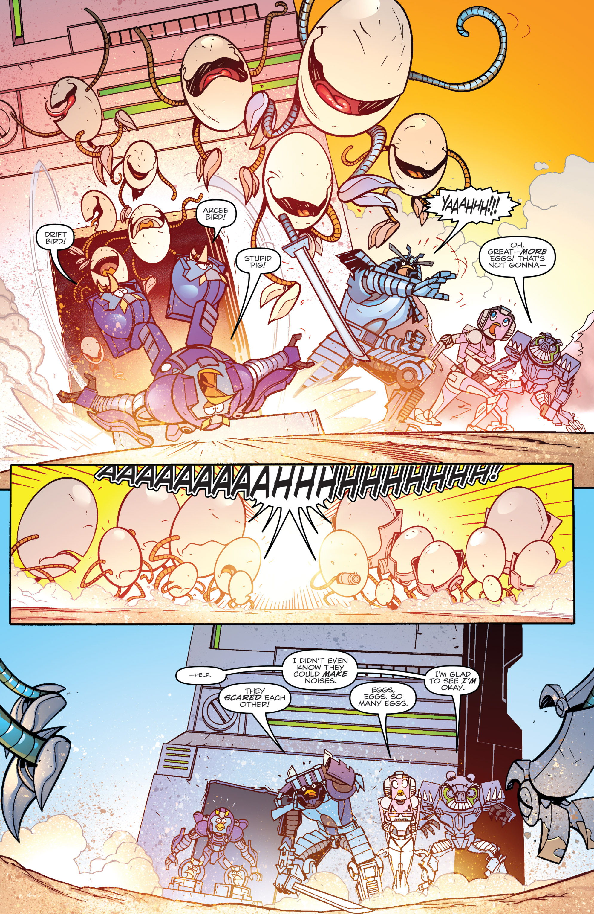 Read online Angry Birds Transformers comic -  Issue #3 - 19