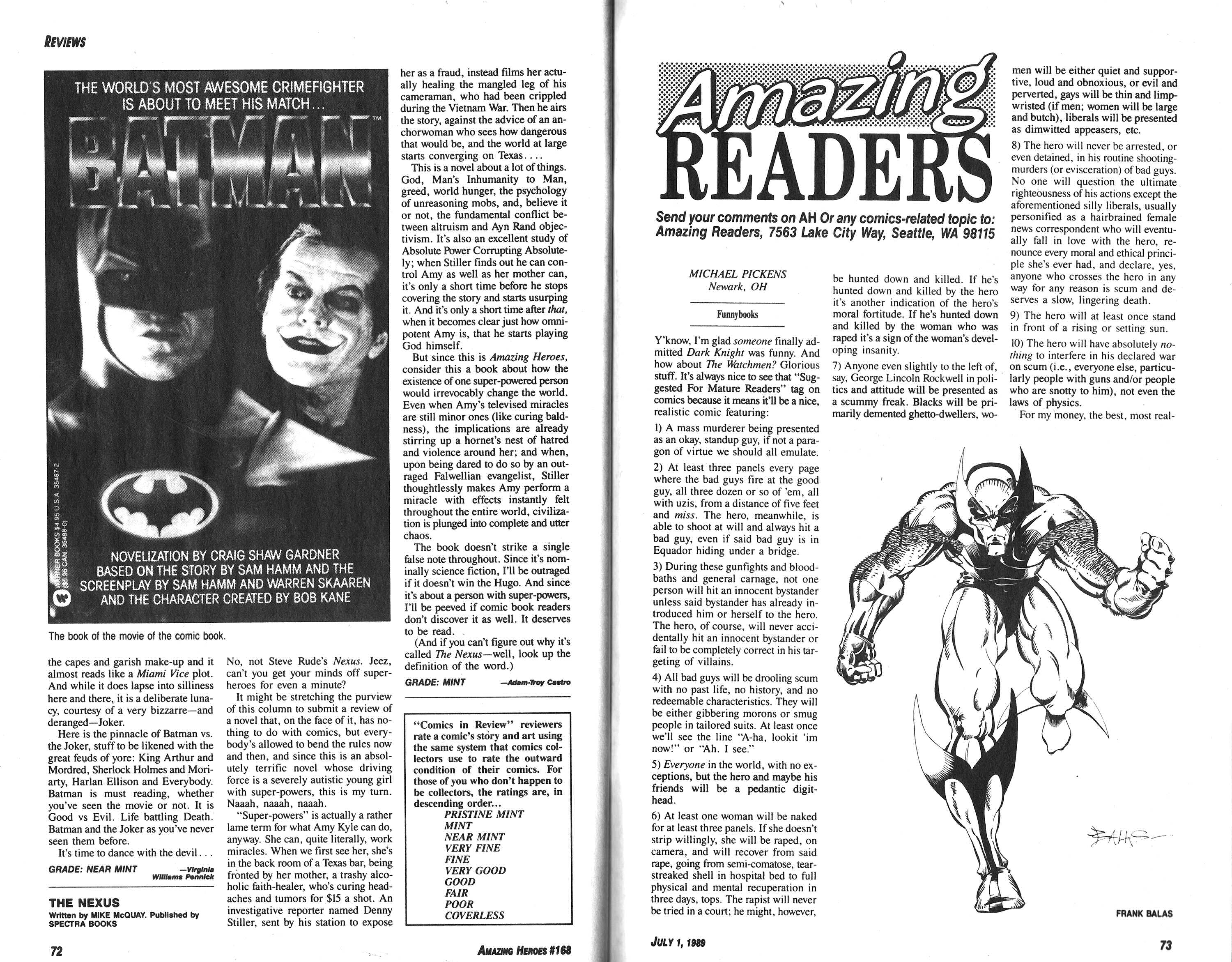 Read online Amazing Heroes comic -  Issue #168 - 37