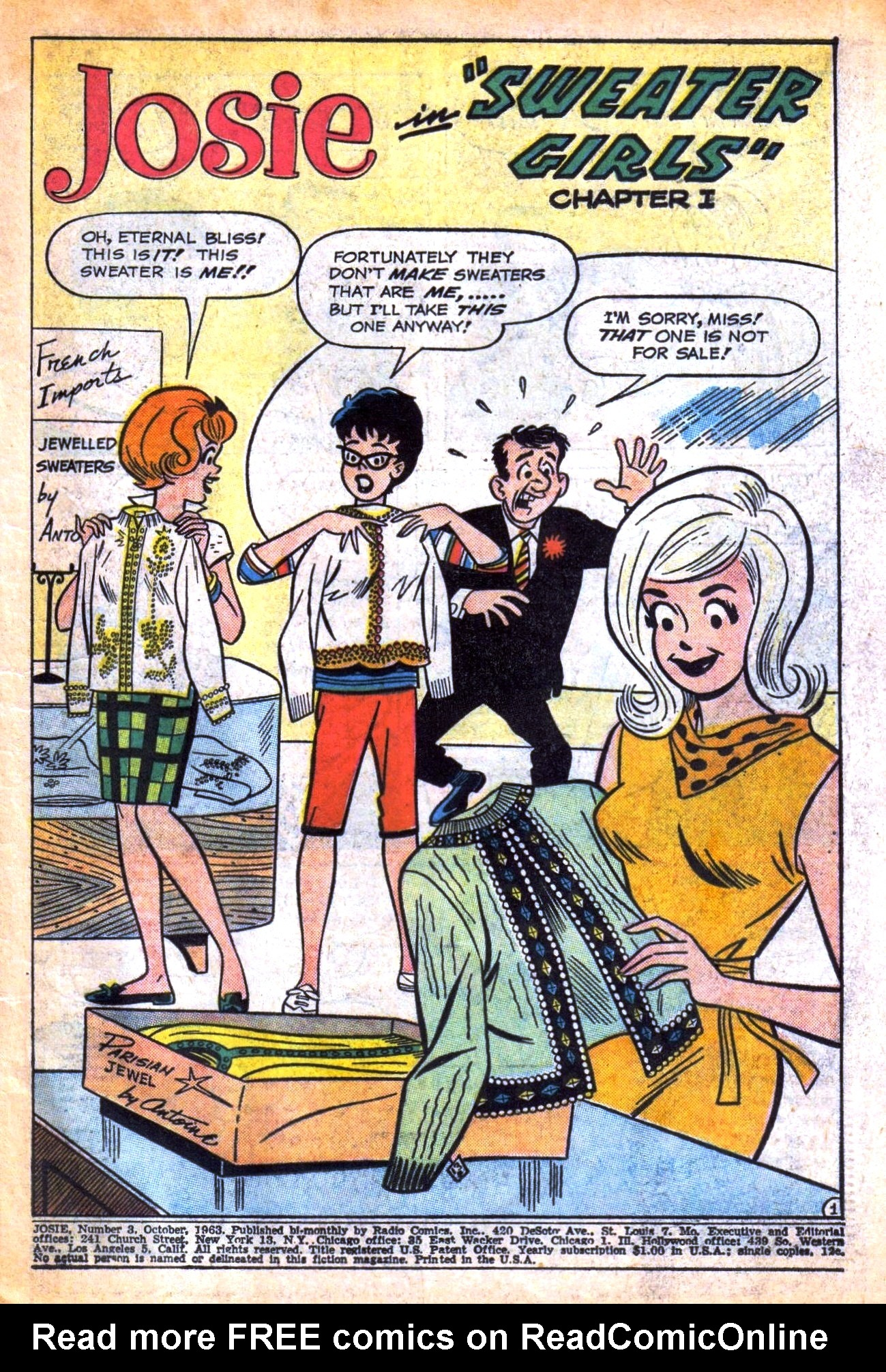 Read online She's Josie comic -  Issue #3 - 3