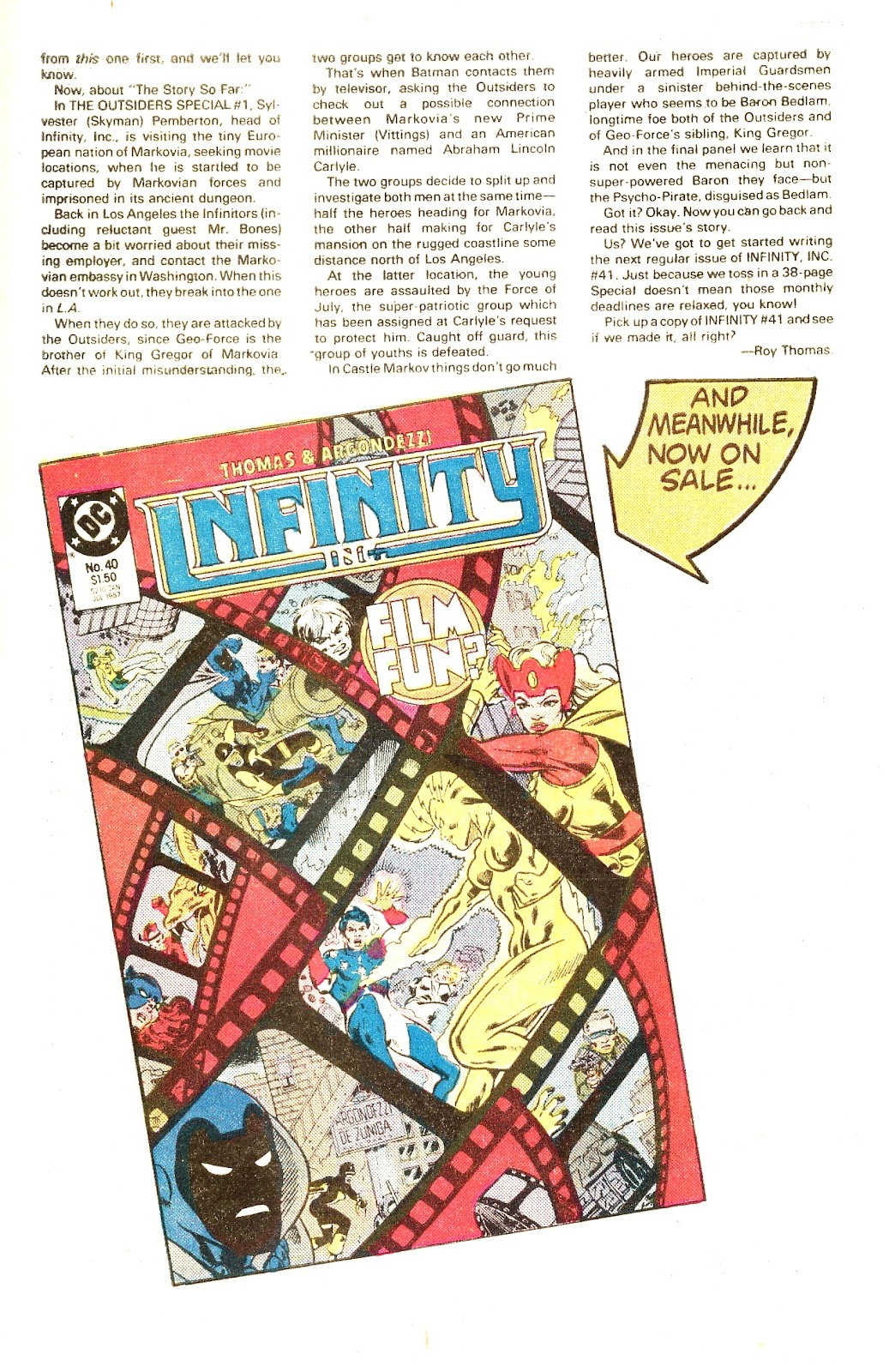 Infinity Inc. (1984) issue Special - Page 50