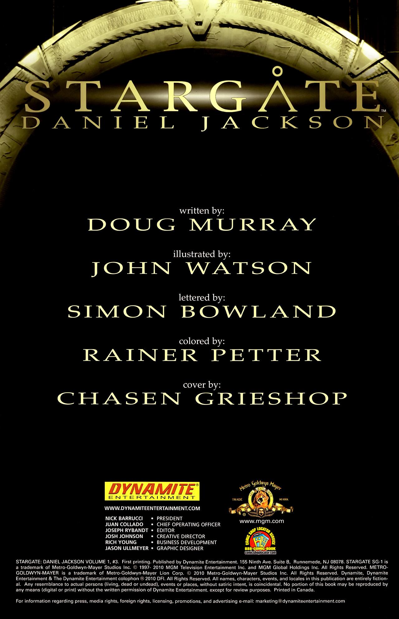 Read online Stargate: Daniel Jackson comic -  Issue #3 - 2
