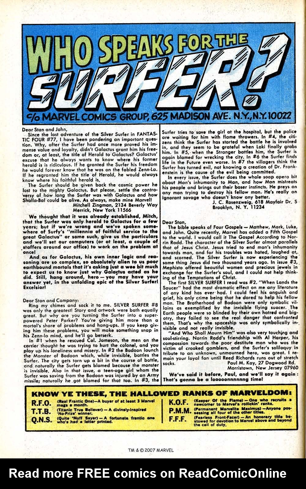 Read online Silver Surfer (1968) comic -  Issue #11 - 32