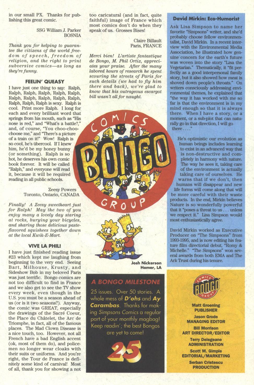 Read online Simpsons Comics comic -  Issue #25 - 25