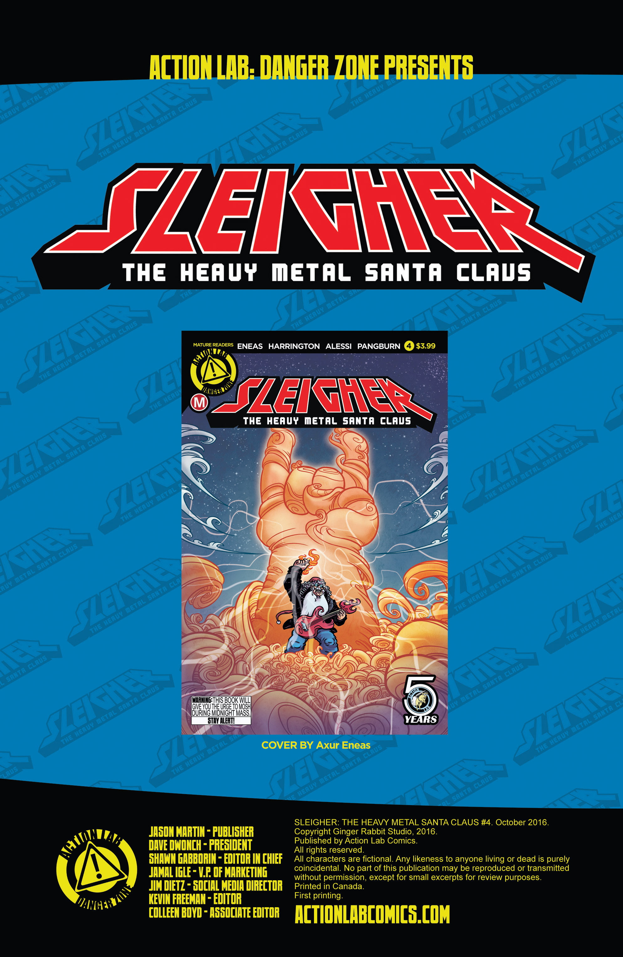Read online Sleigher comic -  Issue #4 - 2