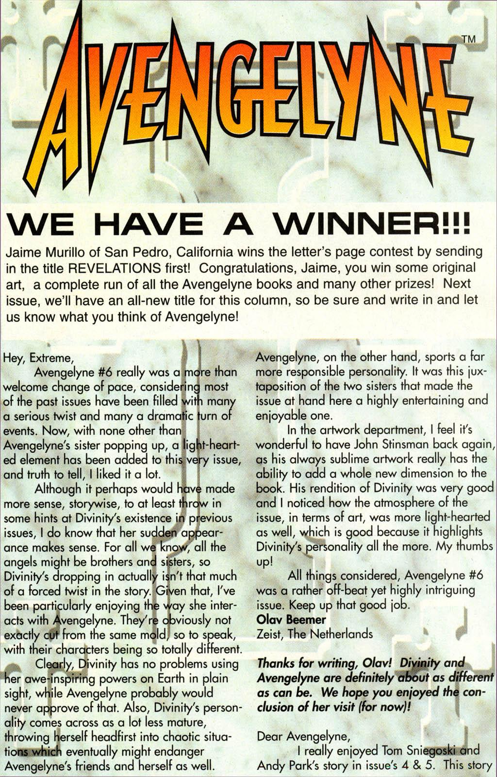 Read online Avengelyne (1996) comic -  Issue #7 - 21