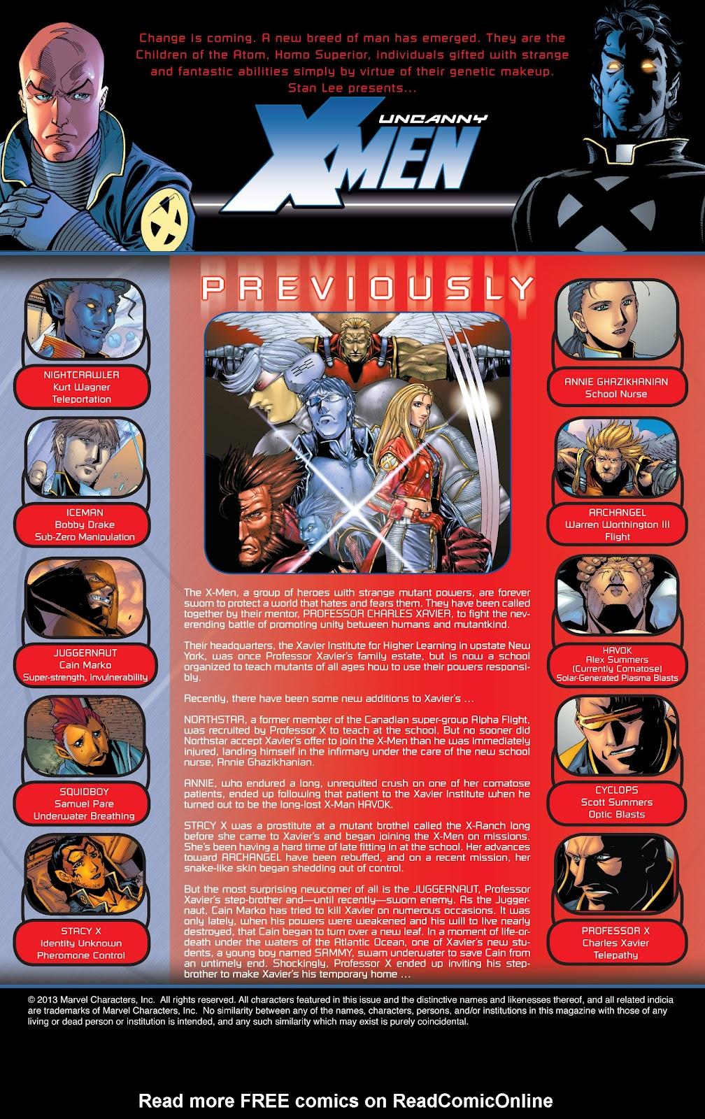 Uncanny X-Men (1963) issue 416 - Page 2