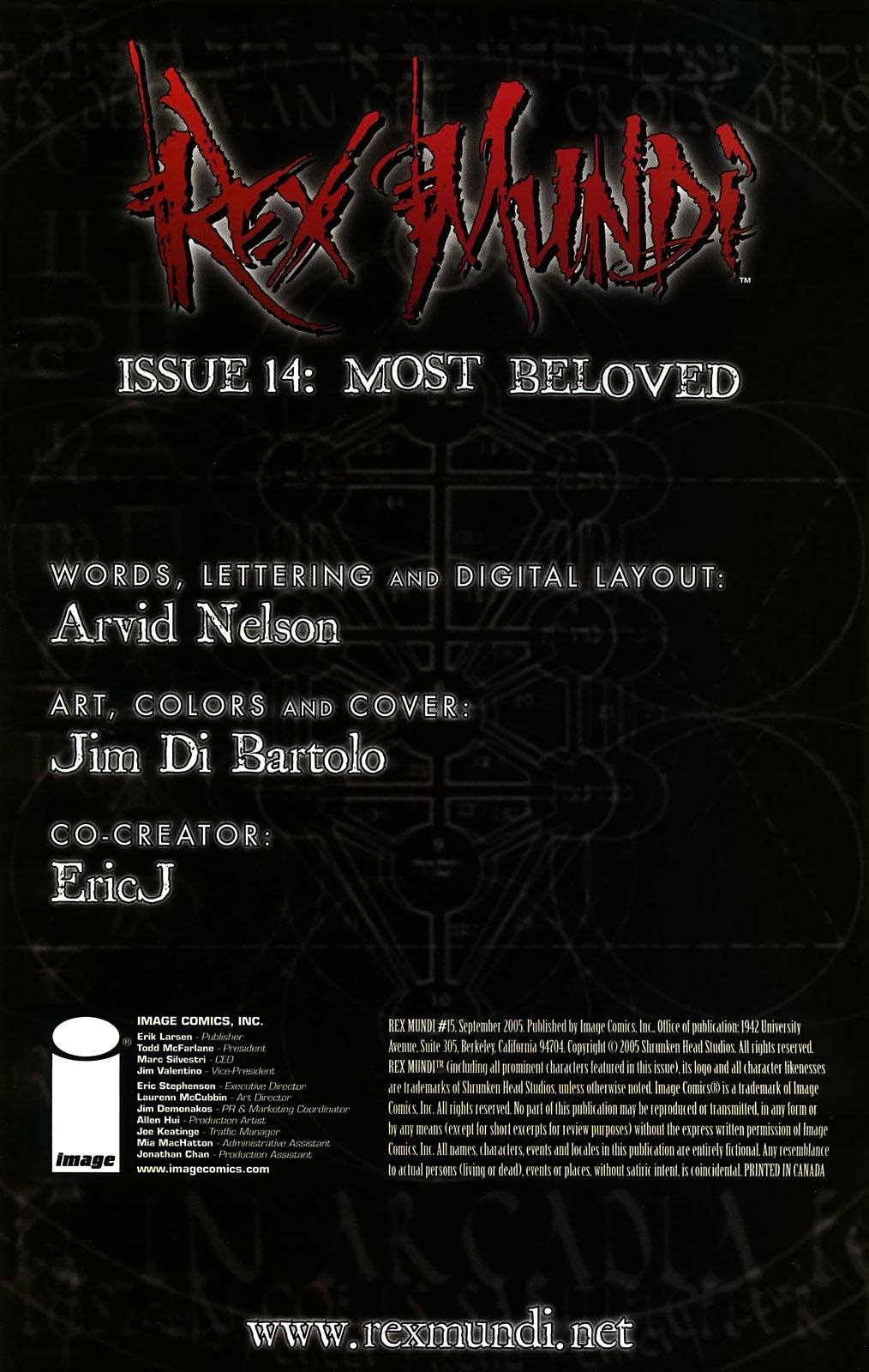 Read online Rex Mundi comic -  Issue #15 - 2