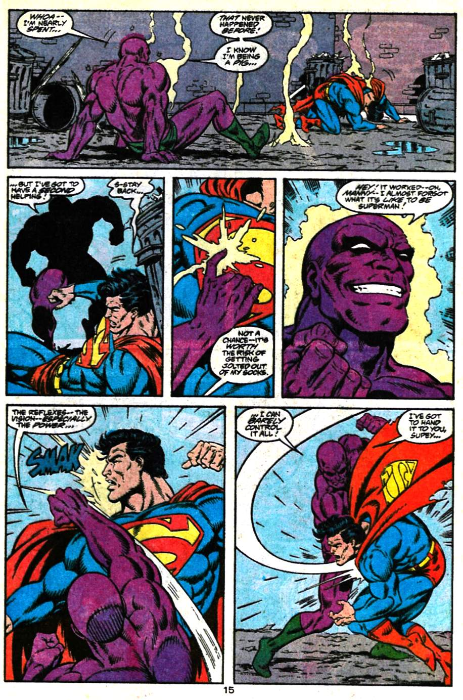 Read online Adventures of Superman (1987) comic -  Issue #482 - 16