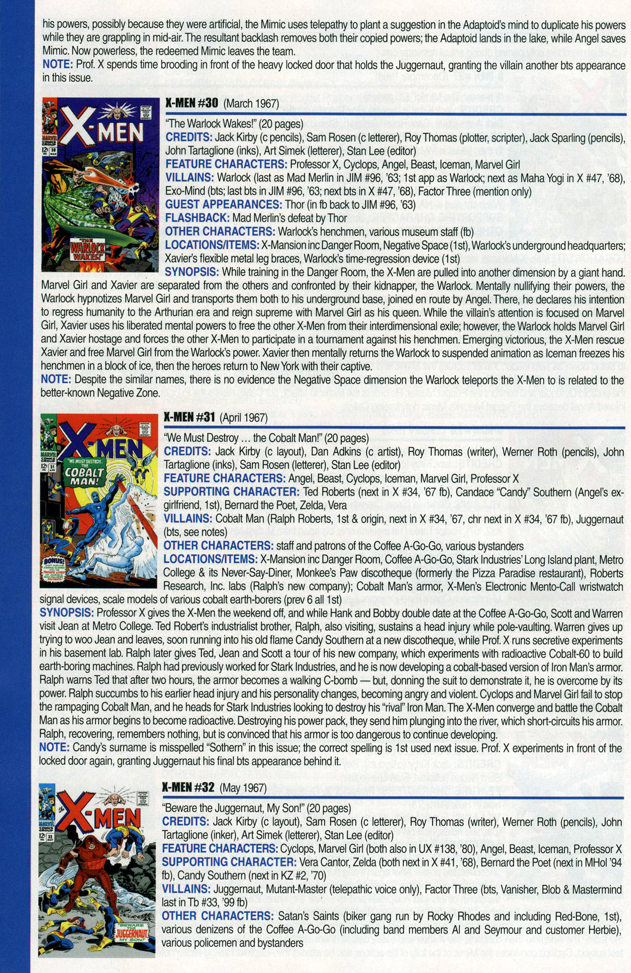Read online Official Index to the Marvel Universe comic -  Issue #1 - 56
